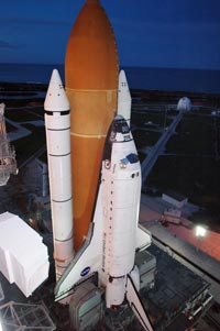 The Space Shuttle Atlantis carried some Salmonella as part of an experiment